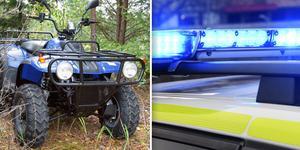 Polisen har nyligen hittat en fyrhjuling vid en husrannsakan. Fordonet på bilden har ingen koppling till ärendet. Foto: Arkiv