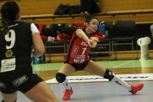 Degerfors Volleys libero Lillemor Ingebrand slet förgäves i Idrottshuset.