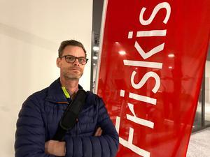 """Fredrik Stål var en av alla som hade kommit för att  träna den första dagen. """"Jag har tränat på andra platser, men nu kan jag göra det nära mitt arbete""""."""
