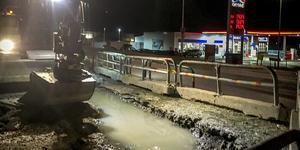 Den vattenläcka som gjorde att många hushåll i den norra delen av tätorten Nynäshamn var utan vatten på onsdagskvällen, har nu lagats.