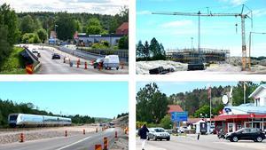 Jätteprojeket omfattar väg-, järnvägs- och brobyggen mellan Dingersjö och Njurundabommen.