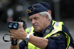 Drygt hälften av alla bilförare kör för fort, skriver polisen i ett pressmeddelande. OBS: Genrebild. Foto: Janerik Henriksson/TT.