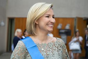 KD:s partiledare Ebba Busch Thor.