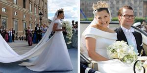 Kronprinsessan Victoria och prins Daniel knöt hymens band 19 juni 2010.