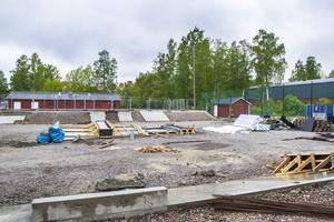 Arbetet med skateparken på Solrosen har pågått sedan drygt ett år tillbaka.