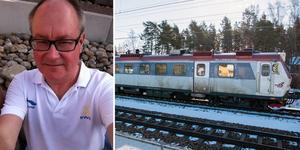 X14 är ett av de två typerna av tåg som trafikerar sträckan Västerås-Ludvika. Tågen är gamla och svåra att laga. Resenären Christer Ericsson önskar sig bättre standard och nu verkar hans önskan bli verklighet. Foto: Privat/Magnus Östin