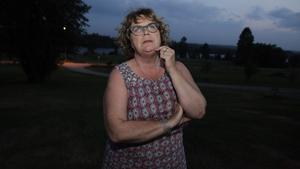 Gabriella Persson Turdell evakuerades från sitt hem i en vecka på grund av skogsbranden.