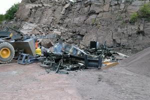 En rastkupa brändes ner utanför Sälen och där observerades en person av en åtelkamera.