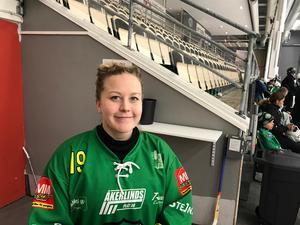 Linnea Gunnarsson är spets i Skutskär och har redan gjort sju mål i slutspelet – blir det fler på lördag?