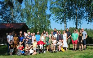 De flesta av de trettiotal gästerna övernattade på campingen i Ånge.