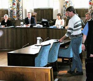 Jan-Erik Brandt under rättegången i Mora tingsrätt.