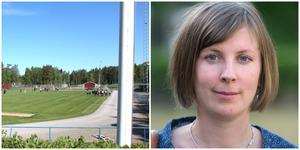 Ljungbackens IP ska utvecklas i ett antal steg fram till 2022. Hanna Klingborg hoppas att många idéer framförs på onsdagens öppna möte.