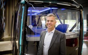 """Tony Sandberg är forskningschef på Scania. Konceptbilarna är Scanias sätt att testa idéer och se hur omvärlden tar emot dem. """"Vi vill testa allt"""", säger han."""