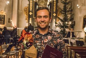 Hugo Östby vid Erik Svenssons musik stipendieutdelning. Foto: Marija Ratkovic Vidakovic