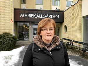 Agneta Enbom Holtz är ordförande för PRO i Södertälje och sitter med i det kommunala pensionärsrådet. Hon gläds åt beskedet om ett nytt äldreboende – och framför allt planerna på ett så kallat mellanboende intill.
