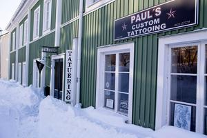 Paul Blackwells ateljé på Östanbäcken.