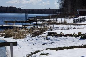 Sonnboviken är ett av de områden i kommunen som kan drabbas om vårfloden blir kraftig.