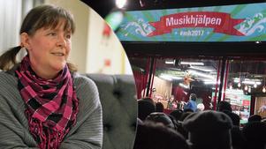 Åsa Hurtig Göransson hoppas att många kommer till ungdomsgårdens arrangemang för att stötta Musikhjälpen på lördag.Foto: Stefan Persson/TT