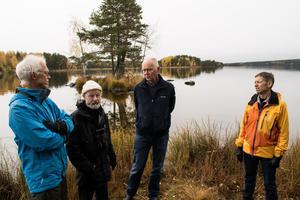 Mats Wiklund, Richard Holmqvist, Lars Jerdén och Kenneth Wåhlberg tycker att det är viktigt att Främby udde bevaras som naturområde.