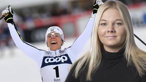 Mittmedias reporter Sanna Svanebo, som ska bevaka OS på plats i Pyeongchang, har träffat Charlotte Kalla och teamet bakom stjärnan. Bild: TT Nyhetsbyrån/Montage.