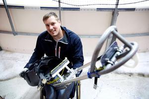 Christian Hedberg från Hedemora SK är en av 21 svenska idrottare i Paralympics.Foto: Claes Söderberg