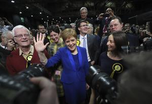 Nicola Sturgeon, SNP. AP Photo/Scott Heppell
