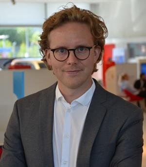 Erik Gustafsson, informationschef på Toyota Sverige. Bild: Toyota