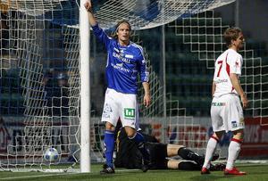 Linus Hallenius skickade in 2–0-målet när GIF Sundsvall tog emot Assyriska 2009. Senare den säsongen lämnade han GIF. Bild: Mats Olsson