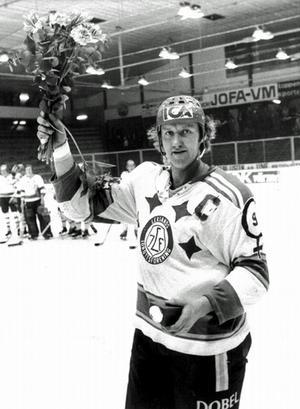 Gunnar Andersson var lagkapten när Leksand vann sitt senaste SM-guld 1975. Foto: DD:s bildarkiv