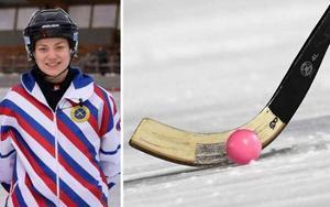 Lisa Elg dömer finalen mellan Skutskär och AIK. Foto: Pressbild / TT