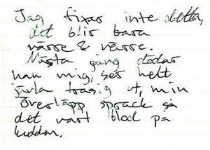 I sin dagbok har Tova beskrivit en vardag fyllt av hot, kränkningar och misshandel. Hon fruktade för sitt liv.Foto: Polisens förundersökning