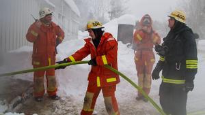 Vid brandövningar på Fågelbacken har marken blivit förorenad.