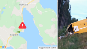 """E4 vid Docksta avstängd i timmar efter lastbilsolycka: """"Har varit problematiskt"""""""