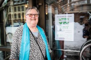 Gerd Dahlin, representant från kvinnouniversitetet i Sundsvall.