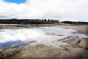 En avfallsdeponi från industrin har funnit på området förr.