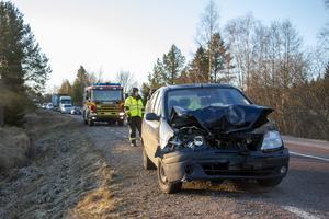 Den andra bilen som var inblandad i olyckan.