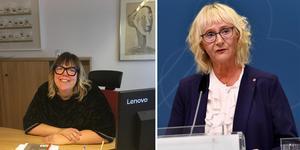 Malin Svanholm (S) kommunalråd i Kramfors, och civilminister Lena Micko (S). Foto: Henrik Montgomery