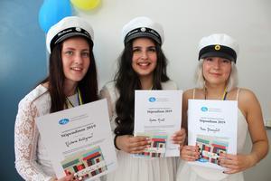 Victoria Hellgren, Aurora Micali och Thea Blomquist. Foto: Läsarbild
