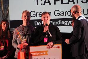 Green garden UF från De La Gardieskolan vann kategorin Årets hållbara företag.