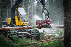 Log Max AB är sedan 1988 specialiserade på tillverkning av skördaggregat, som fäller, kvistar och kapar träd i ett moment.