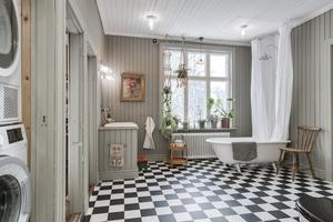 Det renoverade badrummet.  Foto: Carlsson Ring