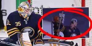 Linus Ullmark. Foto: TT/NHL on NBC (skärmdump).