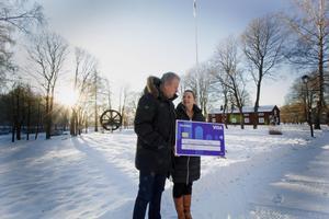 Bengt och Carina Wåhlin har varit med och drivit Brukets dag i fem år. Allt arbete sker ideellt så tillskottet på 30 000 kronor är välkommet.
