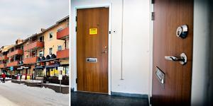 Lägenheten i Surahammar där den grova misshandeln ska ha ägt rum.
