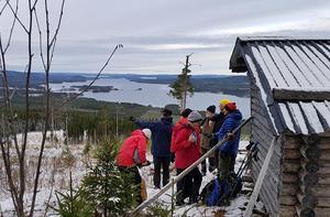 Från Grejsanbergets topp hade man en fantastisk utsikt. Foto: Mats Hiertner.
