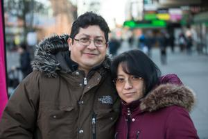 Roy Cuesta och Patricia Arboleda.
