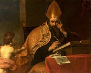 Kyrkofadern Augustinus. Målning av Gerard Seghers från tidigt 1600-tal.