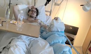 Under nitton dagar pendlade Daniel Gabrielsson mellan hopp och förtvivlan på sjukhuset i Uppsala.