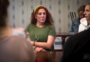 Ann Björklund var sommarteaterns röst vid bygdepengsoffentliggörandet.