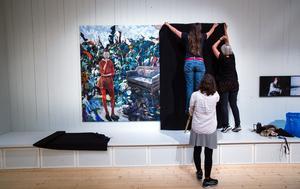 Så här såg det ut när konsten mörklades på Västernorrlands museum.